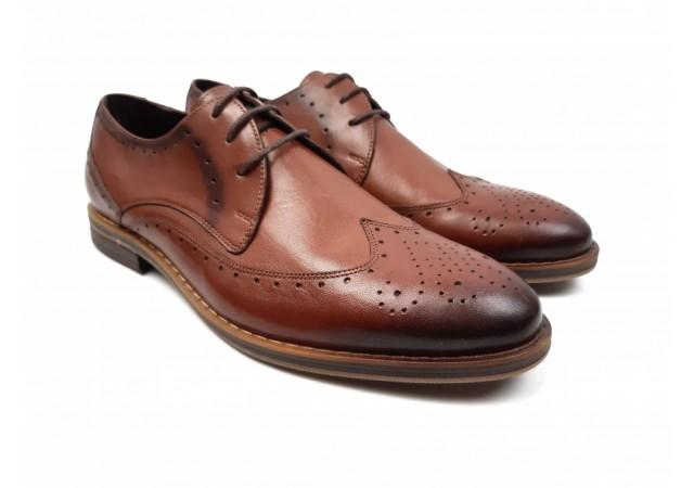 Pantofi barbati derbi din piele naturala de culoare maro - SIR138M