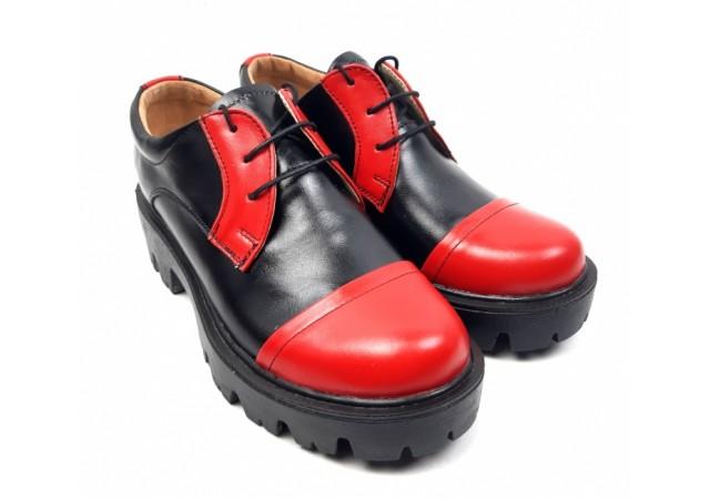 Pantofi dama casual confectionati din piele naturala - ROVI1NR