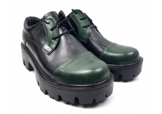 Pantofi dama casual confectionati din piele naturala - ROVI1NV