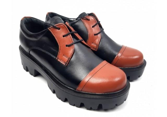 Pantofi dama casual confectionati din piele naturala - ROVI1NM