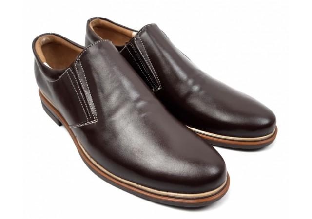 Pantofi barbati casual din piele naturala box - ROVI10MARO