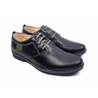 Pantofi barbati casual din piele naturala bleumarin inchis 501BOXGBL