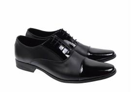 Pantofi barbati eleganti din piele naturala combinata CIOCSTEFLACBOX