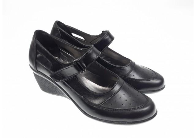 Pantofi dama piele naturala cu platforma - Made in Romania P9154N3X