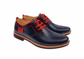 Pantofi barbati casual bluemarin din piele naturala box - 501BLMR
