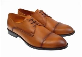 Pantofi eleganti barbati din piele naturala, maro deschis - 002MD
