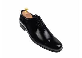 Pantofi barbati eleganti din piele naturala - NEGRU LAC