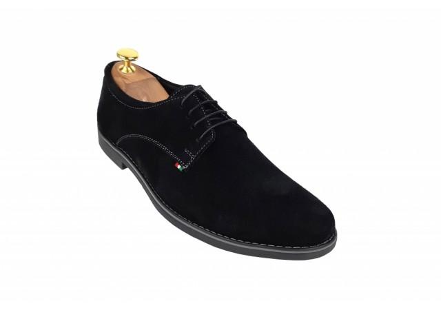 Pantofi barbati casual - eleganti din piele naturala intoarsa VELN