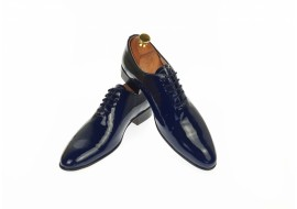 Pantofi barbati office, eleganti din piele naturala lac, bleumarin, ENZO - MOD1BLMLAC