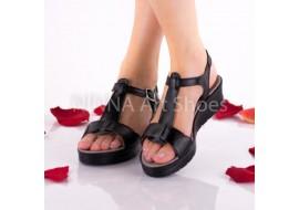Sandale dama, negru, din piele naturala - NA274NEGRU