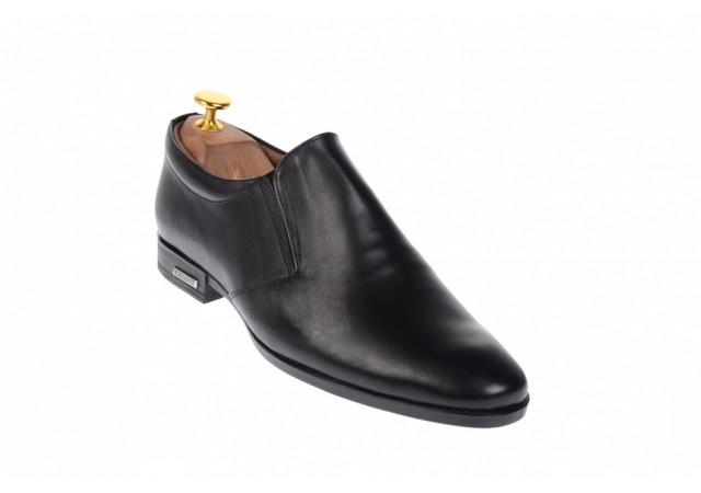 Oferta marimea 41, 43, 44 Pantofi barbati eleganti din piele naturala, cu elastic - LP361N