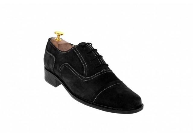 Oferta marimea 41, pantofi barbati eleganti din piele naturala intoarsa  LP32NVEL