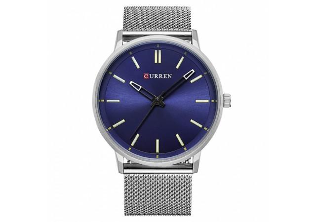 Ceas Curren barbatesc elegant,  slim design Silver Blue - M8233SLVBL