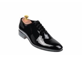 Pantofi barbati lux - eleganti din piele naturala lac - NICOLAS NEGRU LAC