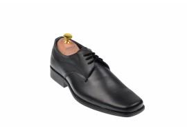 Oferta marimea 39 Pantofi barbati eleganti din piele naturala, cu siret L1002N