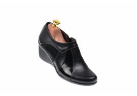 Pantofi dama casual din piele naturala cu platforme de 5 cm - G13306NN
