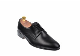 Pantofi barbati eleganti din piele naturala de culoare neagra NIC211SIR