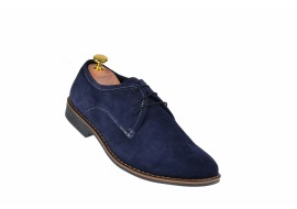 Pantofi barbati casual din piele naturala bleumarin - 85BLVEL