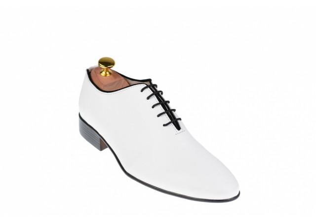 Pantofi eleganti barbati din piele naturala - 024ALB