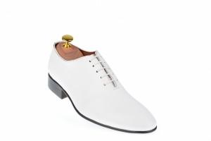 Pantofi barbatesti, culoare alba, eleganti, din piele naturala - 024ABOX