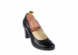 Pantofi dama eleganti din piele naturala cu varf lacuit,croco,toc 7cm - P13423LACN