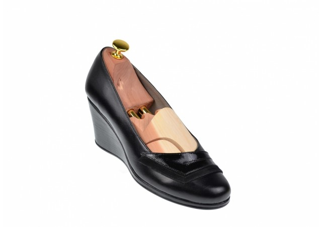 Pantofi dama din piele naturala cu platforme de 6cm - NA115NSPL