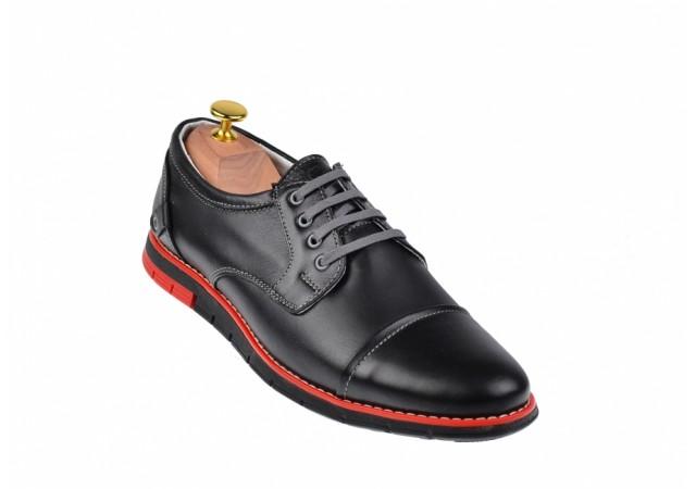 Pantofi barbati sport din piele naturala, cu siret 336NSP
