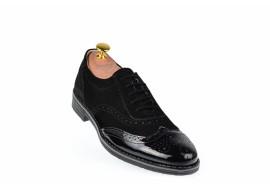 Pantofi barbati casual din piele naturala, varf lacuit 870LVN