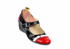 Pantofi dama casual din piele naturala cu platforme de 5 cm - P60RAN