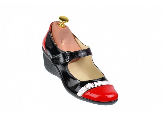 Lichidare marimea 36 - Pantofi dama casual din piele naturala cu platforme de 5 cm - LP60RAN