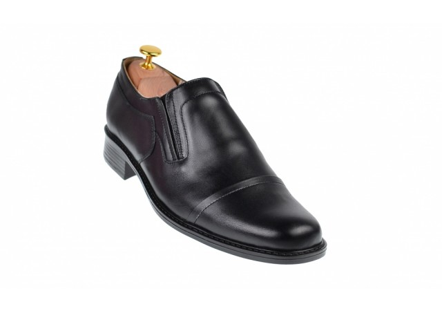Lichidare marimea 42 Pantofi barbati eleganti din piele naturala, cu elastic - LP33NEL