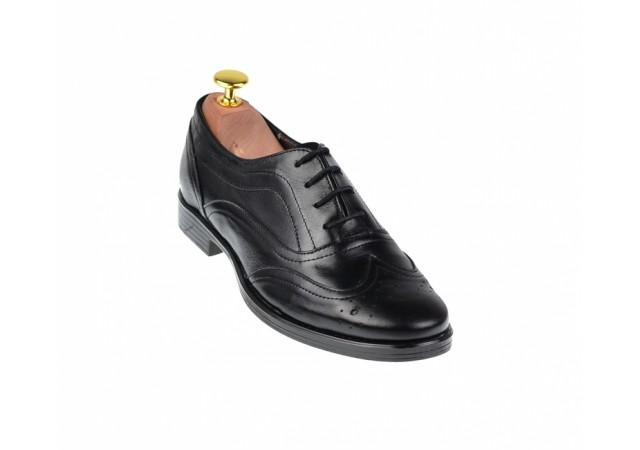 Lichidare marimea 37 Pantofi dama negri casual din piele naturala - LP29NBOX