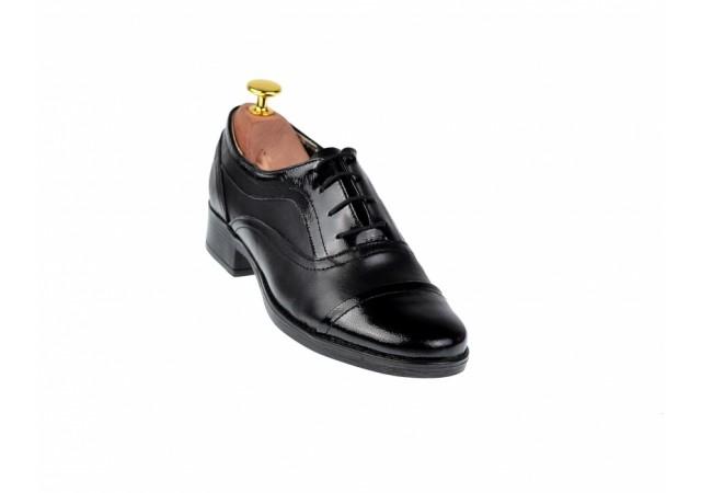 Oferta marimea 37, 39 Pantofi dama negri casual din piele naturala - LP29NL