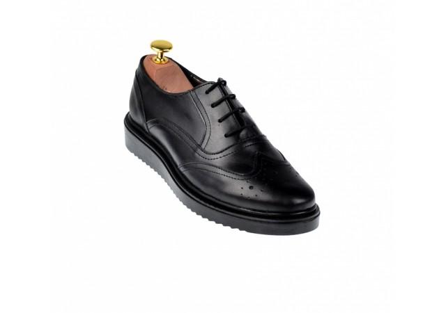 Pantofi dama negri casual din piele naturala P29NORTO
