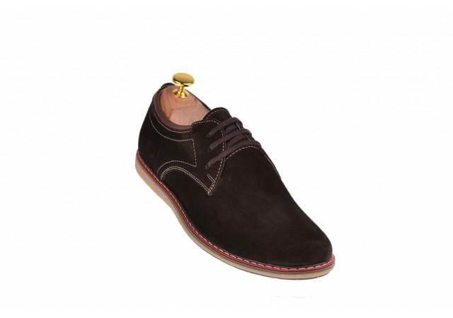 Pantofi casual - sport barbati din piele naturala intoarsa TEN338MVEL