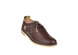 Pantofi barbati casual din piele naturala maro - 501MBOX