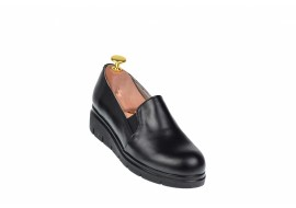 Pantofi dama negri, casual din piele naturala NA271NP