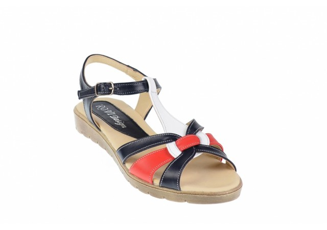 Sandale dama din piele naturala cu platforme joase - S51RABL