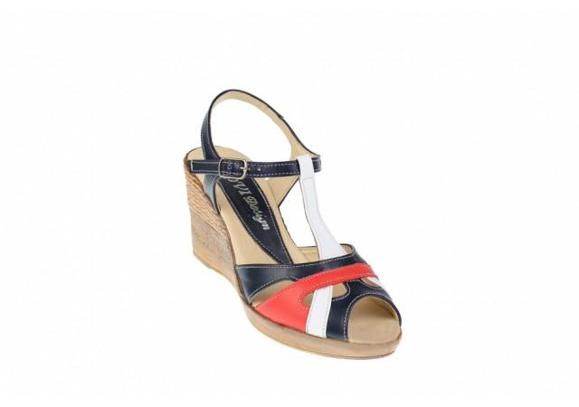 Lichidare marimea 35 - Sandale dama din piele naturala cu platforma - LS50RABL