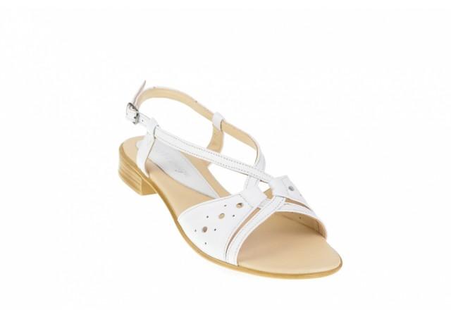 Oferta  marimea 38  - Sandale dama, din piele naturala, alb, - LS36A
