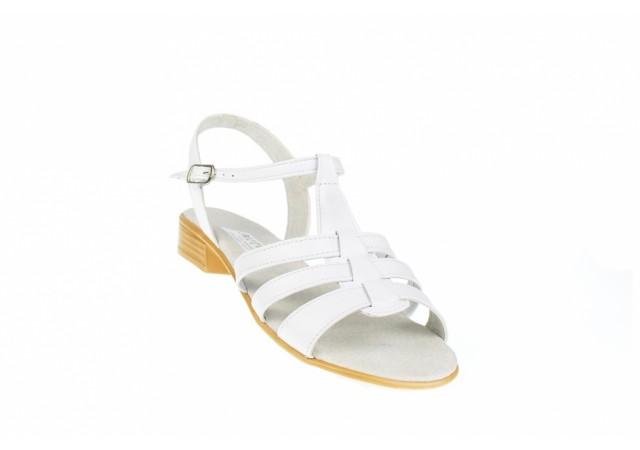 Sandale dama albe din piele naturala - Made in Romania S2A