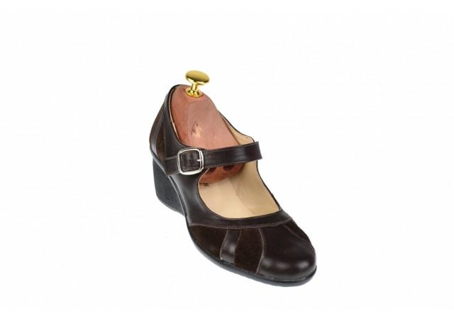 Pantofi dama, casual, din piele naturala box si piele intoarsa, foarte comozi - P13MM