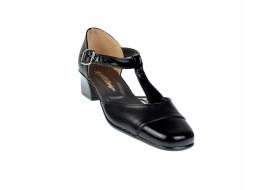 Pantofi dama piele naturala cu varf lacuit - eleganti S1NLAC