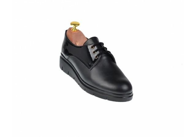 Lichidare marimea 36 Pantofi dama casual din piele naturala - LMIONBL