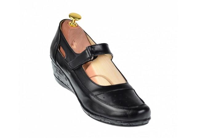 Marimea 38, 40 Pantofi dama cu platforma din piele naturala - Foarte comozi LP9154BOXN
