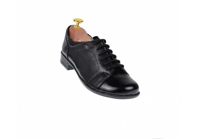 Pantofi dama negri casual din piele naturala, foarte comozi - Made in Romania P10NNL