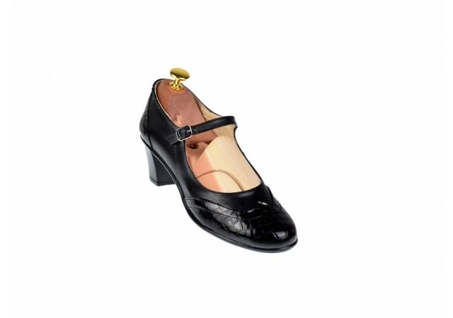 Promotie marimea 38 - Pantofi dama eleganti din piele naturala cu toc 5cm - LP104NLCROCO