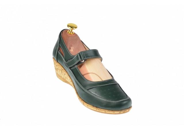 Pantofi dama cu platforma din piele naturala - Foarte comozi P9154VBOX