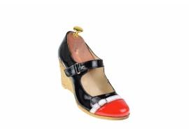 Pantofi dama casual din piele naturala, cu platforme de 7cm, foarte comozi - P104RNLAC