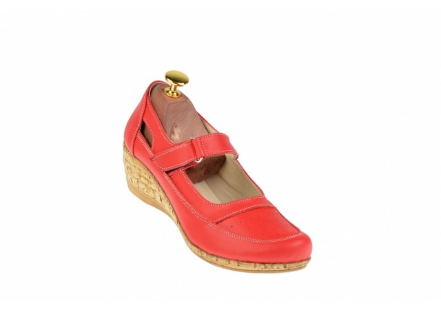 Pantofi dama cu platforma din piele naturala, foarte comozi - P9154RBOX